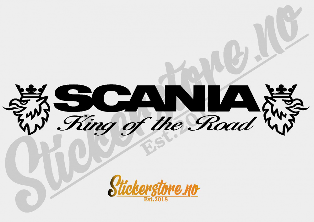 Scania King Of The Road T Skjorte Stickerstore AS